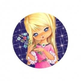(FB36)  bloemen meisje