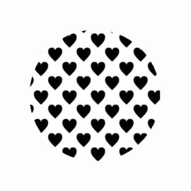 FB851 hartjes wit / zwart