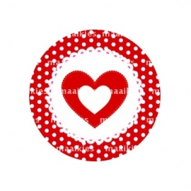 (FB359) hartje rood dot