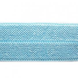haarband elastiek baby blauw 15mm