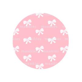 (FB566) strikjes roze