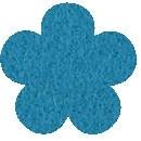 Acryl vilt blauw 45cm bij 30cm
