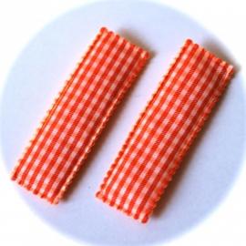 Kniphoesje oranje ruit 1 stuks