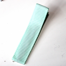 Alligator clip bekleed met mint grosgrain lint