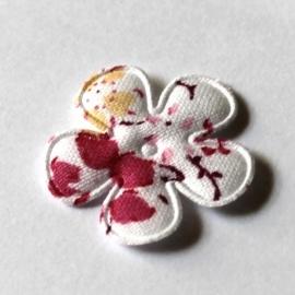 Witte gebloemde bloem 25mm