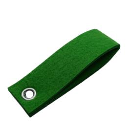 Sleutelhanger vilt dubbele rechthoek groen (23)