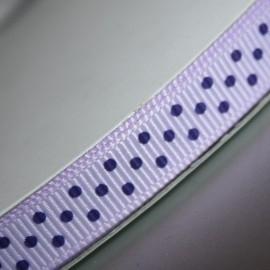 Lila grosgrain met paars polkadot lint 5m
