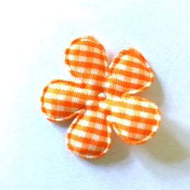 35mm  oranje ruit bloem