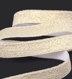 haarband elastiek goud glitter 10mm