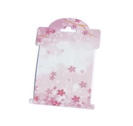knipjes display kaart roze gebloemd 10 stuks