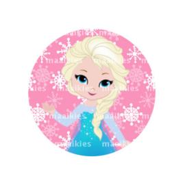 (FB939) Elsa roze sneeuw