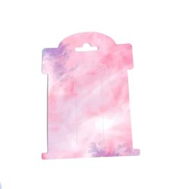 haarstrik kaartjes roze marmer 10 stuks
