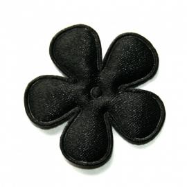 35mm satijn bloem zwart