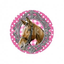 (FB284) Paard roze