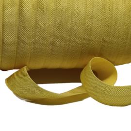 Oker geel haarband elastiek 15mm p/m