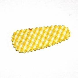 1 kniphoesje geel geruit (3,5cm)