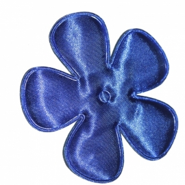 10 stuks Bloem satijn Konings blauw 65mm