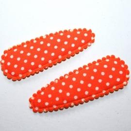 oranje polkadot hoesje 5cm)