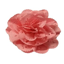 Bloem met gaatjes donker roze 7cm