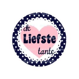 (FB589) Liefste tante navy hart