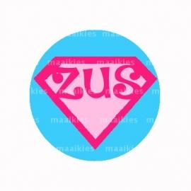 (FB539) Super zus roze / blauw
