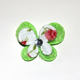 Mini dubbellaags vlinder lime groen