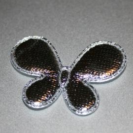 Zilveren vlinders 1 stuks