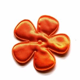 10 stuks Bloem satijn oranje 65mm