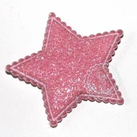 Ster glitter roze