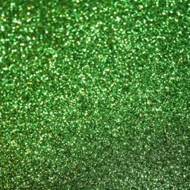 Lapje glitter pu leer kerst groen (A4)