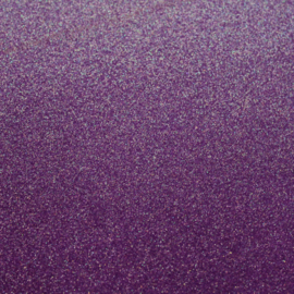 Lapje glitter violet paars pu leer (a4)