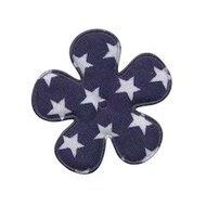35mm bloem grote ster donker blauw