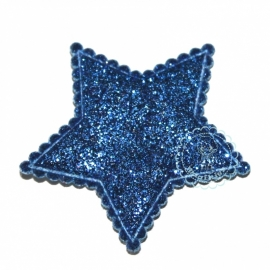 Ster glitter blauw
