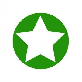 (FB156) ster groen