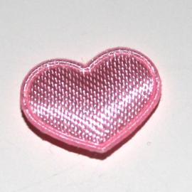 mini hartje satijn roze