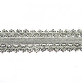 haarband elastiek kant grijs 18mm