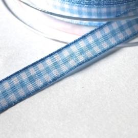 Blauw boerenruit bandje 10mm breed