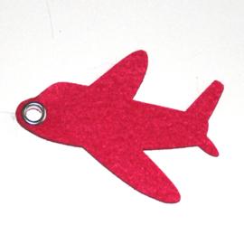 vilten sleutelhanger  vliegtuig ( 36 kleuren)