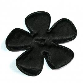 65mm zwart satijn bloem