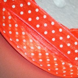 Oranje organza lint 13mm breed