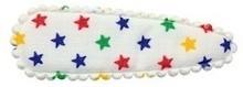 1 kniphoesjes gekleurde sterren (55mm)
