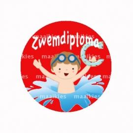 (FB520) zwemdiploma jongen B rood