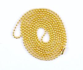 bolletjes ketting met sluiting goud (fijn)
