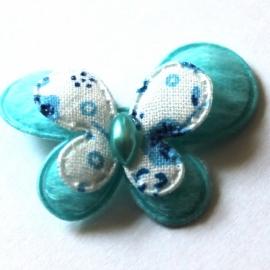 stoffen dubellaagse vlinder blauw