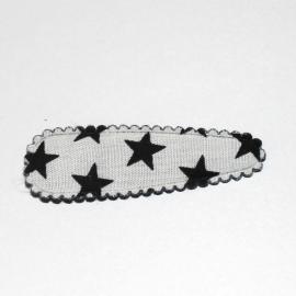 kniphoesje wit zwarte ster (5cm)