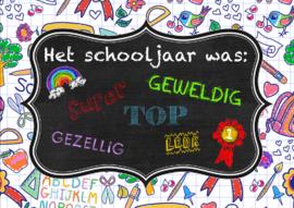 Ansichtkaart Geweldige schooljaar