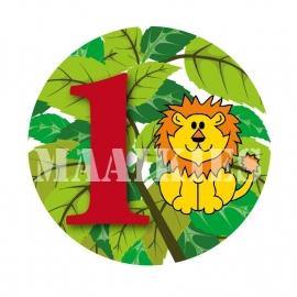 Verjaardags button LEEUW 1-6 jaar