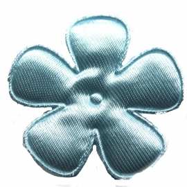 35mm pastel blauwe bloem satijn