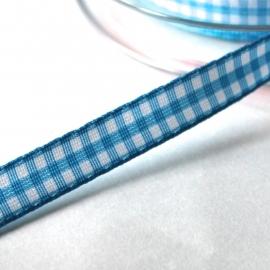 fel blauw boerenruit bandje 10mm breed