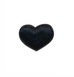 mini hartje satijn zwart